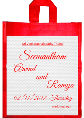 Valaikappu Seemantham Baby shower gift bag