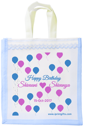 Balloons Birthday Gift Bag - Non woven