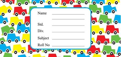 Picture of Customized Cars School Labels (Pack of 12)