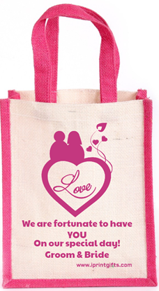 Fortunate Wedding  Thamboolam Jute Bag
