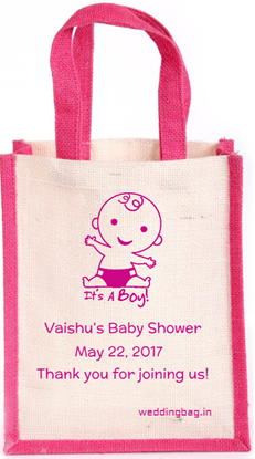 It's a Boy - Baby shower Personalized Jute Bag