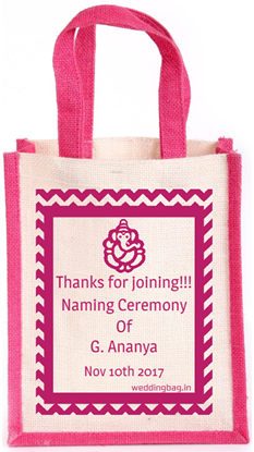 Naming Ceremony Thamboolam Jute Bag