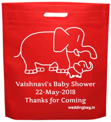 Seemantham (Valaikappu) Thamboolam bag - D-cut Non Woven