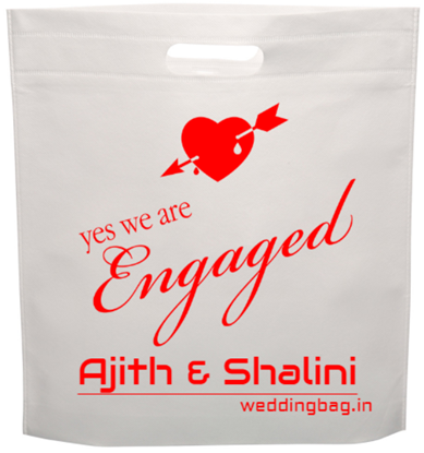 Engagement (nichayathartham) D-cut Thamboolam Non Woven Bags