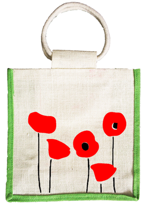Mini Poppy Jute Thamboolam Return Gift Bag