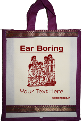 Kathu Kuthu (Ear Boring) Zari Thamboolam Gift Bag - Non Woven