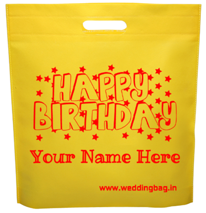 Happy Birthday Economy D-cut Thamboolam Non Woven Bag