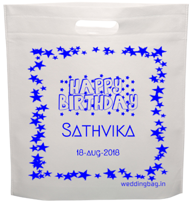 D-cut Birthday Return Gift Thamboolam Bag - Non Woven