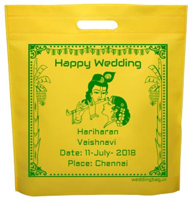 Radha Krishna Kalyanam Thamboolam D-cut Non Woven Bag