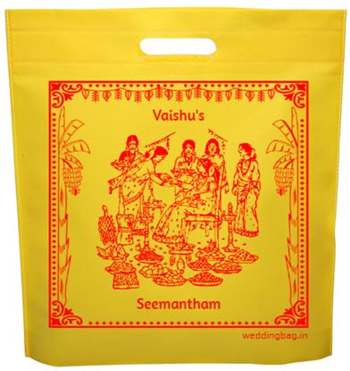 Seemantham (Valaikappu) Thamboolam D-cut Non Woven Bag