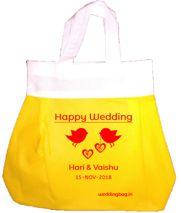Apple Wedding Thamboolam Gift Bag - Non woven