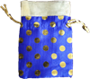 Blue Dot with Zari - Potli Thamboolam bag-1