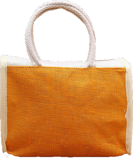 Jute Yellow Lunch Thamboolam Bag