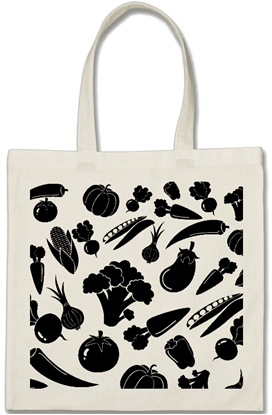 Eco friendly grocery vegetables cotton shopping bag