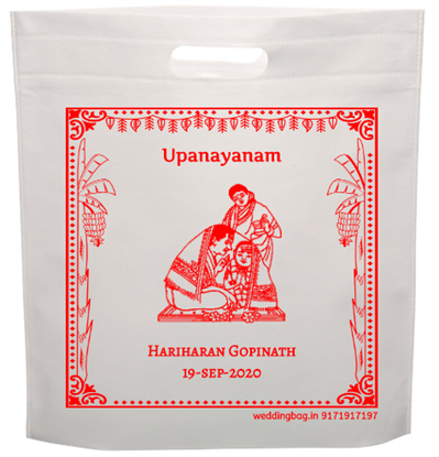 Upanayanam Return Gift Thamboolam Bag - Non Woven