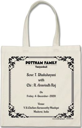 Marriage Thamboolam bag - Cotton - Natural